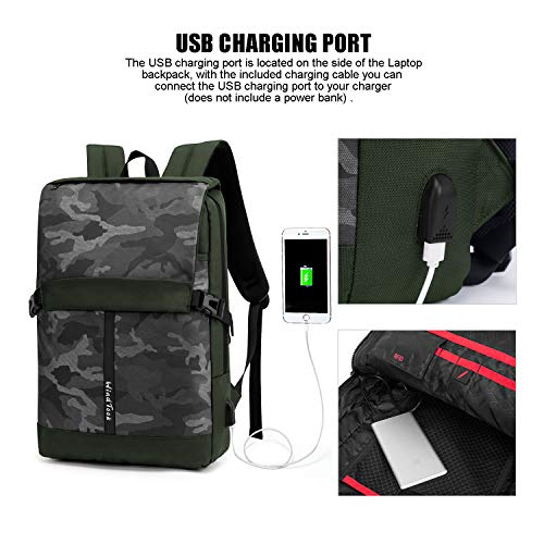 WindTook Laptop Backpack with USB Charging Port, Business Travel College School Computer Bag for Women & Men