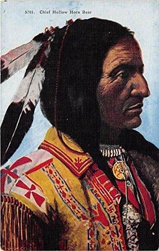 Chief Hollow Horn Bear Indian Postcard (Bear Hollow)