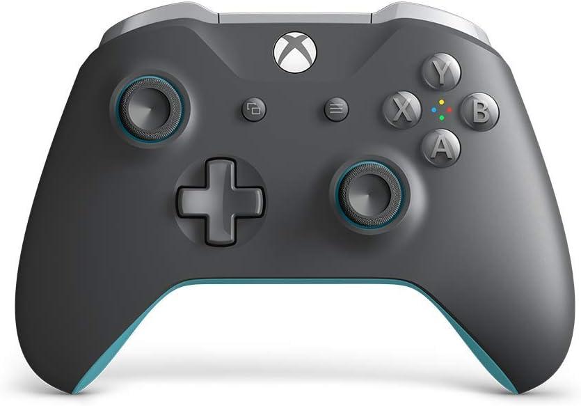 Microsoft - Mando Inalámbrico, Color Gris y Azul (Xbox One)
