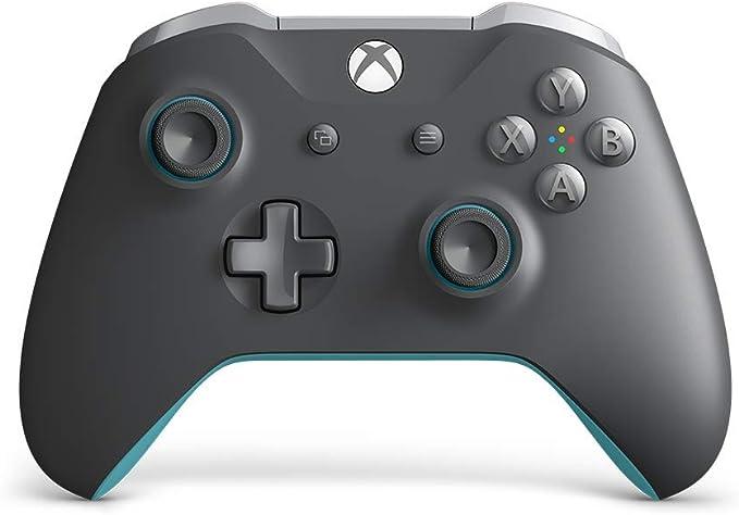 Microsoft - Mando Inalámbrico, Color Gris y Azul (Xbox One): Microsoft: Amazon.es: Videojuegos