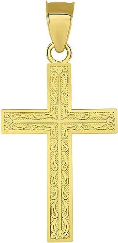 14k Yellow Gold Latin Cross Pendant
