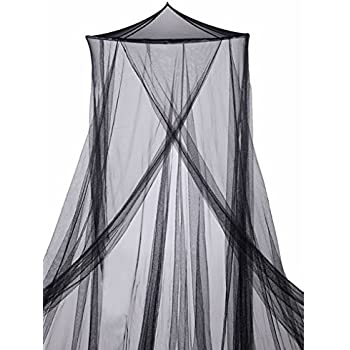 BRUBAKER Double Bed Canopy Mosquito Net - Black