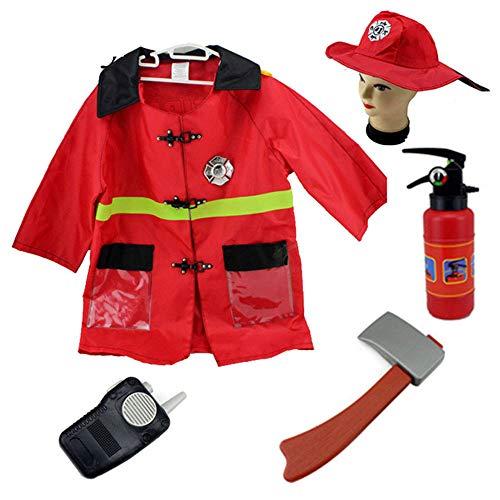 good Goods store Fireman Costume for Kids Halloween Costume for Kids Boys Hat ax Fire extinguishers for $<!--$18.99-->