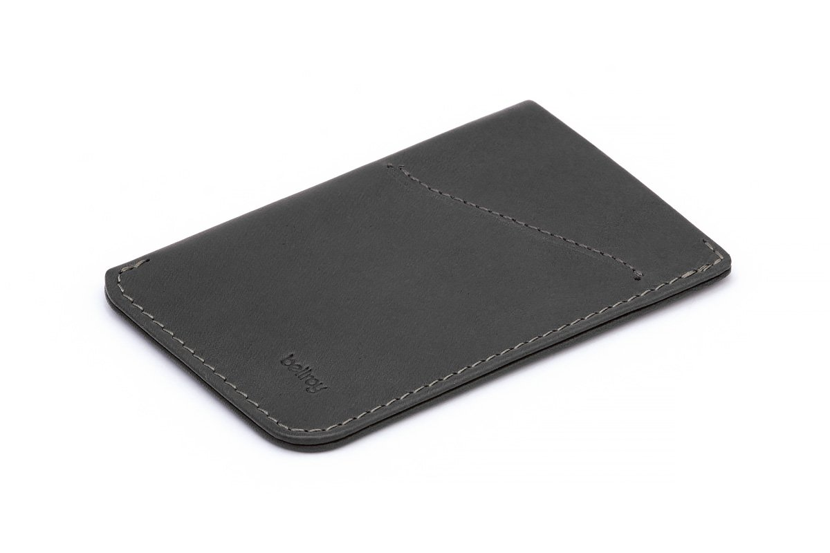 Bellroy Leather Card Sleeve Wallet Charcoal by Bellroy
