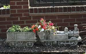 Astons TRAIN concrete garden ornament