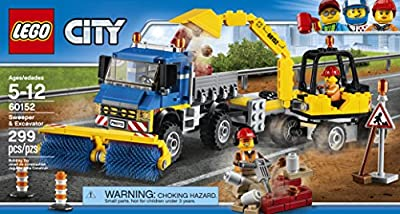 LEGO City Great Vehicles Sweeper & Excavator 60152 Building Kit by LEGO
