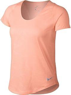 Nike Women's 10k Jacquard Running Top (Crimson Tint, XS)
