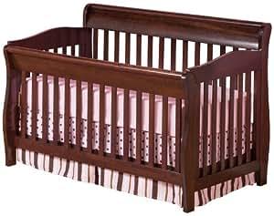 Atlantic Furniture Versailles Convertible Crib, Antique Walnut [Baby Product] # J-98204