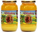 Shree Radhey Certified A2 Gir Cow Ghee - Gluten Free - (Traditionaly Hand Churned) (1000 ml X 2)