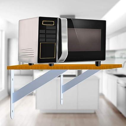 Estante de la cocina, horno de microondas estante de la pared de almacenamiento en rack, acero inoxidable estante de la pared, trípode.De pared estante de exhibición del estante decorativo rack de alm:
