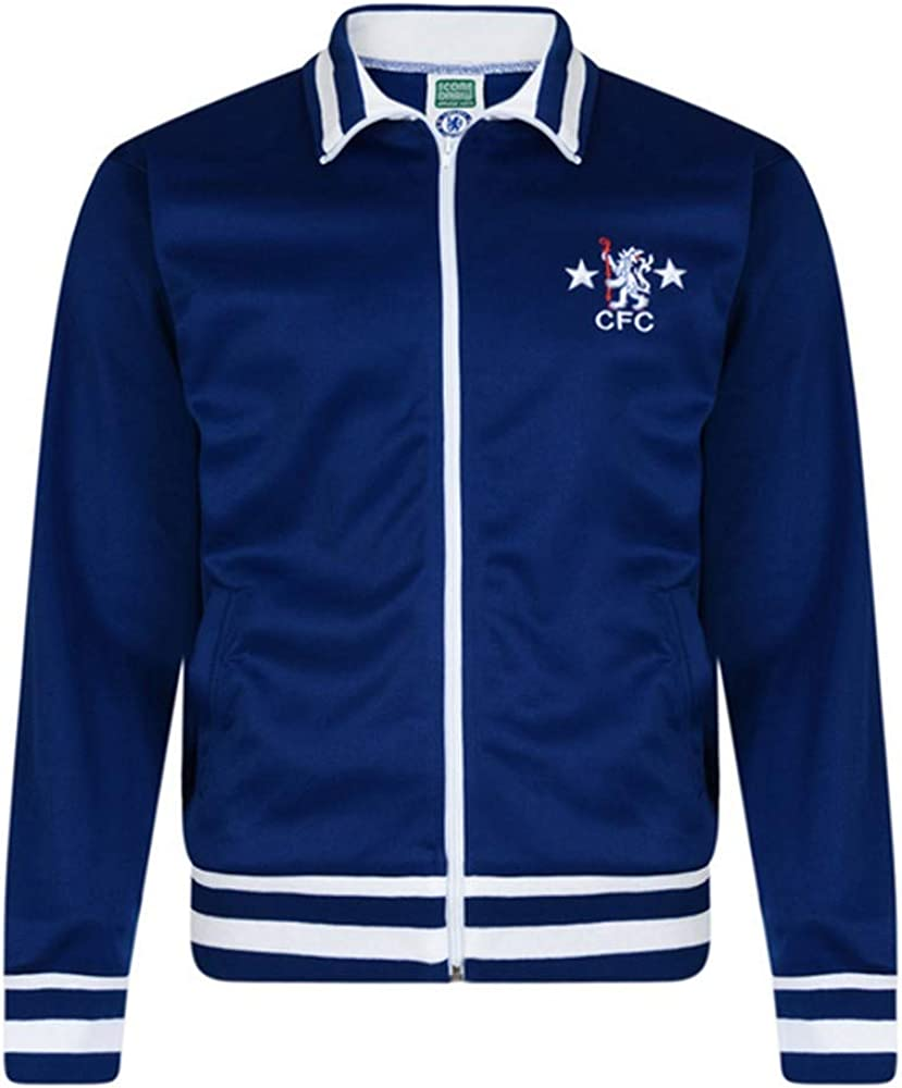 Chelsea FC Official Mens 1978 Retro Track Jacket