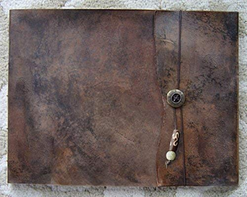 "9.5"" x 12"" Large Refillable Leather Sketchbook, Old World, Handmade leather sketchbook cover, leather journal, guest book, refillable sketchbook, drawing book, art notebook"