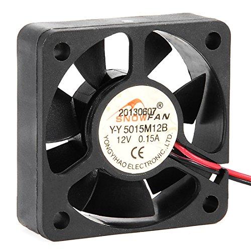 uxcell 50mm x 50mm x 15mm 12V DC Cooling Fan Dual Ball Bearing Computer Case (50mm 12vdc Fan)
