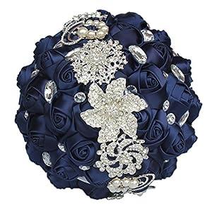 JACKCSALE Wedding Bride Bridal Bouquet Brooch Bouquet Bridesmaid Valentine's Day Bouquet Confession (D494 CREAM)