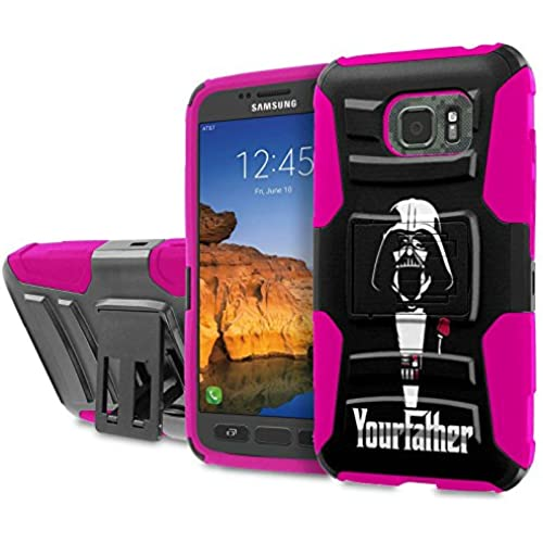 AT&T [Galaxy S7 Active] [5.2 Screen] Armor Case [SlickCandy] [Black/ Hot Pink] Heavy Duty Defender [Holster] [Kick Stand] Phone Case - [Your Father] for Sales
