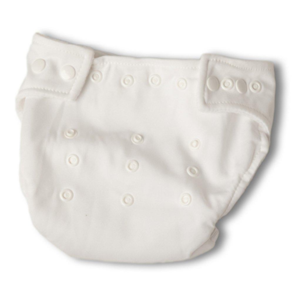 乳児幼児男の子女の子おむつカバー挿入( 2 Pack ) 7色 16-40 Pounds オレンジ 16-40 Pounds ホワイト B01BFFSQ7C