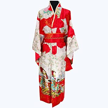 Gale Hayman Style Geisha Luxury Dress Kimono Robe Red One Size ...