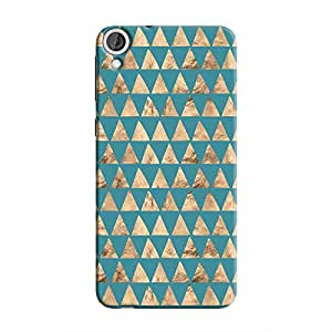 Cover It Up - Brown Blue Triangle Tile Desire 820 Hard Case