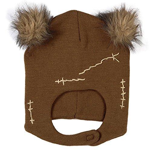 Star Wars Ewok Mascot Beanie Adult Knit Hat Cap Brown (Ewok Mask)