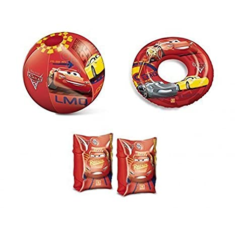 Inflable Manguitos , Bola de agua / Bola de playa y Flotador / flotador Disney Pixar - Cars 3 Rayo McQueen Cruz Ramirez y Jackson Storm: Amazon.es: Juguetes ...