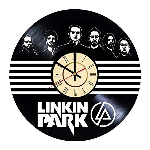 Clock Bennington (Chester Bennington Vinyl Clock Gift for Linkin Park Fans Rock Band Wall Decor Alternative Metal Music Art LP Living Room Artwork)