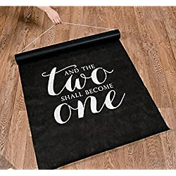 And The Two Shall Become One Black Aisle Runner 100' X 3' Sealed