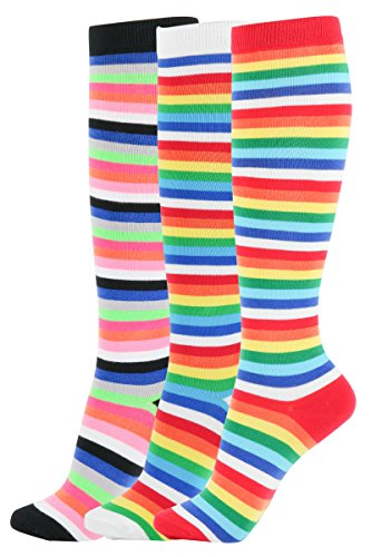 Womens Rainbow Stripes Colorful Pattern