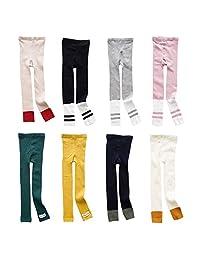 XUNYU Baby Girls Cotton Striped Knits Leggging Bottom Pants