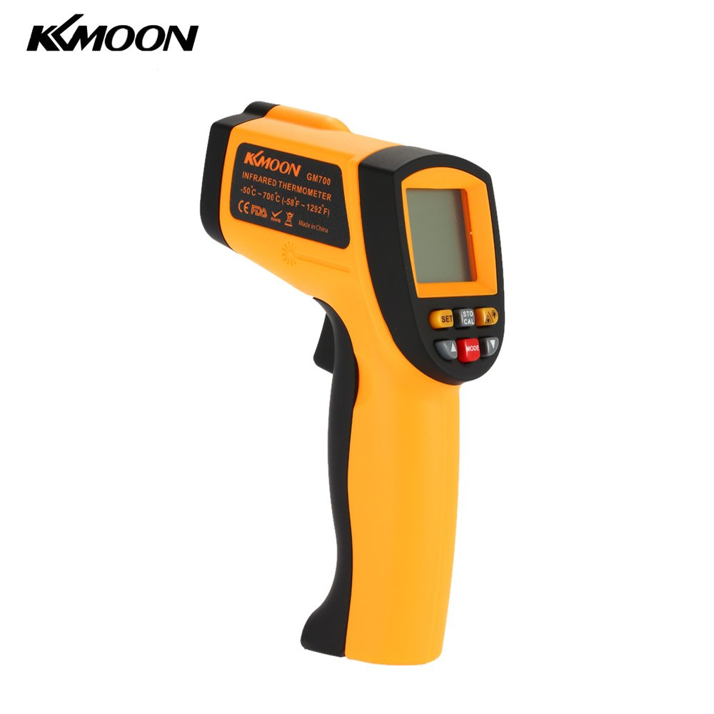 KKmoon Digital LCD Non-Contact IR Thermometer -50-700℃ w/ Alarm & MAX/MIN/AVG/DIF Andoer