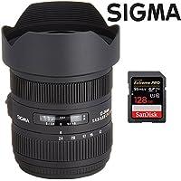 Sigma AF 12-24mm F4.5-5.6 II DG HSM Lens (204-205) for Sony Full Frame Digital SLRs + SanDisk 128GB SDXC Memory Card