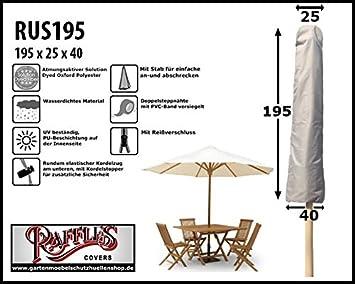 Amazon De Raffles Covers Abdeckhaube Fur Sonnenschirm H 195 Cm