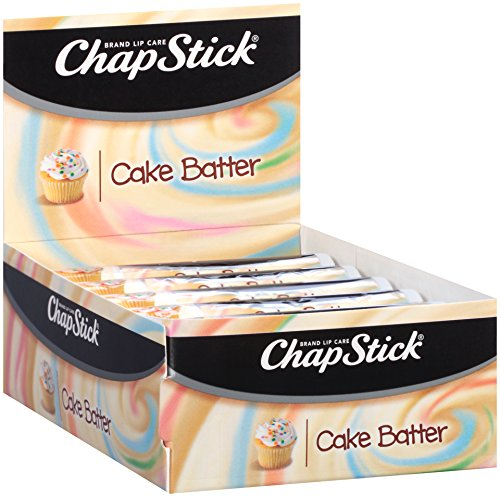 - ChapStick Classic Skin Protectant Flavored Lip Balm, Limited Edition Cake Batter Flavor, 0.15 Ounce (1 Box of 12 Sticks)