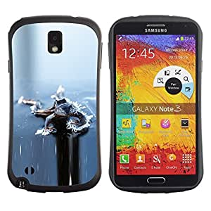 """Hypernova Slim Fit Dual Barniz Protector Caso Case Funda Para Samsung Note 3 [Hielo Gris Gris congelado invierno""""]"""