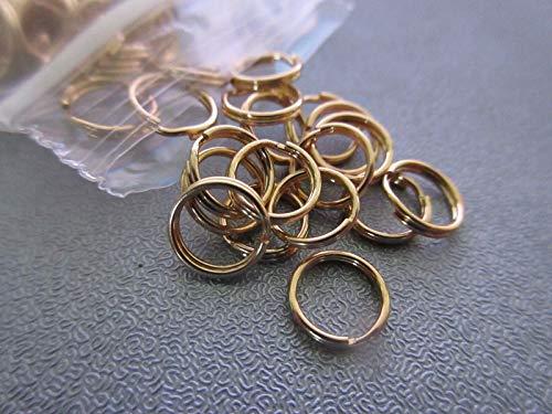 (14k Gold Filled 8mm Split Ring 10pcs #ID-3)
