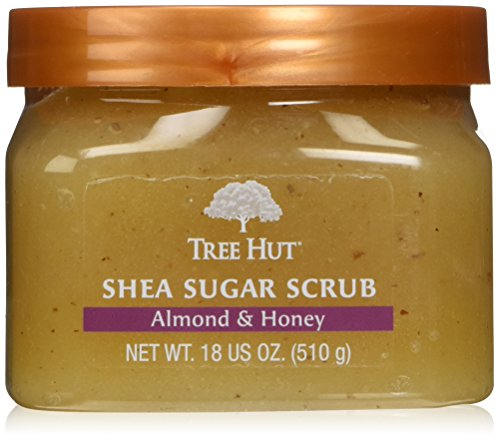 Tree Hut Sugar Body Scrub 18 Ounce Almond And Honey Shea (532ml) (Scrub Shea Tree Hut Body)