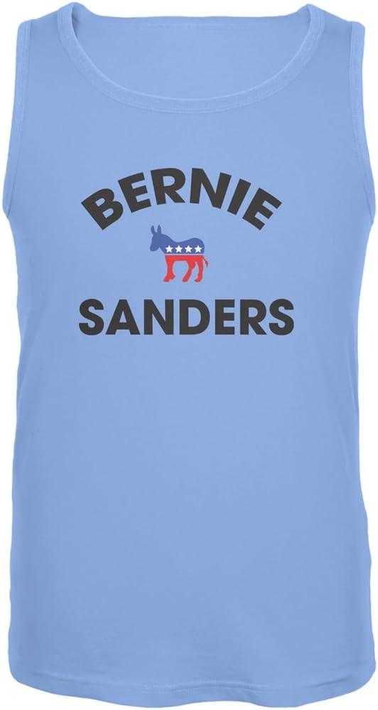 Election 2016 Bernie Donkey Varsity Black Adult Tank Top