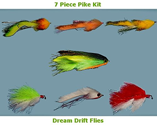 Pike Fishing Float (Pike Fly Fishing Flies Assortment - 7 Flies)