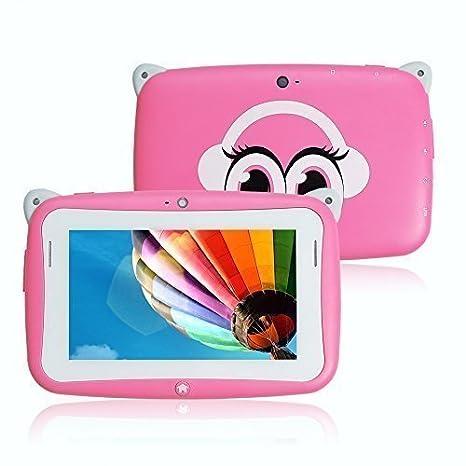 Amazon.com: Haehne 4.3 inch Cute Cartoon Mini niños Tablet ...