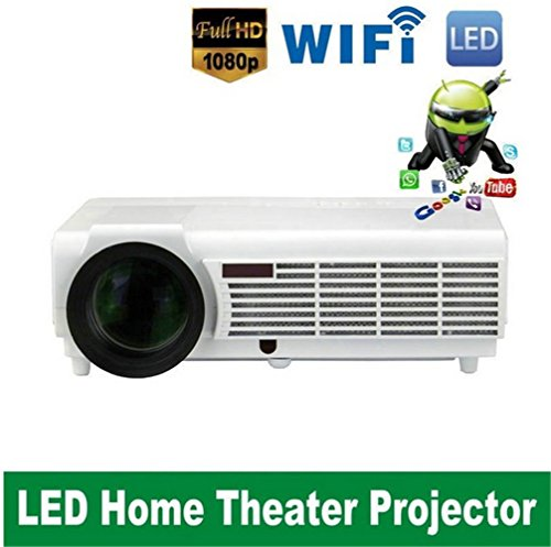 Smart 3D Android 4.4 wifi Projector Proyector Full HD LED LCD Home Theater Projecteur Beamer Projektor 1080p