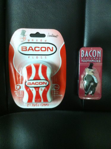 Bacon Dental Floss and Bacon Toothpicks- Combo Gift Pack, Health Care Stuffs