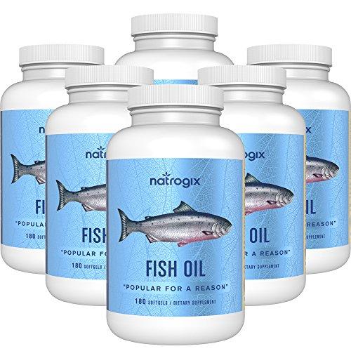 Natrogix Omega 3 Fish Oil 3000 mg /serving, 180 Softgels (6x 180 Softgels) by Natrogix