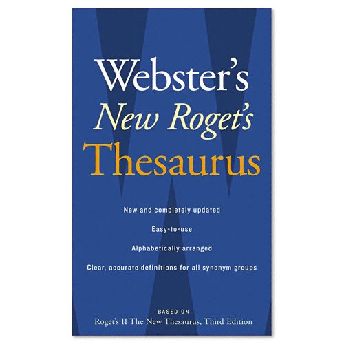 Houghton Mifflin Products - Houghton Mifflin - Webster's New Roget's Thesaurus Office Edition, Paperback, 544 Pages - Sold As 1 Each - Organized alphabetically. - Synonyms, antonyms, usage. - 35,000 synonyms.