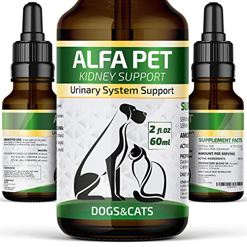 (Kidney Support for Dogs and CatsUrinary System Support for PetsNatural Homeopathic UTI TreatmentHelps with Frequent Urination, Improves Renal and Urinary Tract Health)