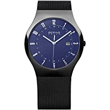 Bering Time Men's Solar Collection Watch with Mesh Band and scratch resistant sapphire crystal. Designed in Denmark. 14640-227 by Bering