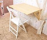SoBuy Mesa de cocina, mesa plegable de pared, mesa de madera, mesa de comedor, mesa de pared, 75x60cm 2 soportes, (sillas no incluidas), FWT05-N (natural)