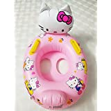 Inflatable Kitty Baby Floats Indoor Outdoor Shower,Infant Early Learning Swimming Ring,Safe Kitty Seat Float Boat,Kitty Pool Float Water Fun Games Toys Kids Tous Age 2 Years Up (70CMx55CM)