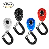 Dog Clicker for Training with Wrist Strap Pack of ...
