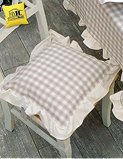 copricuscino per sedia blanc mariclo scozzese beige nocciola country basic collection