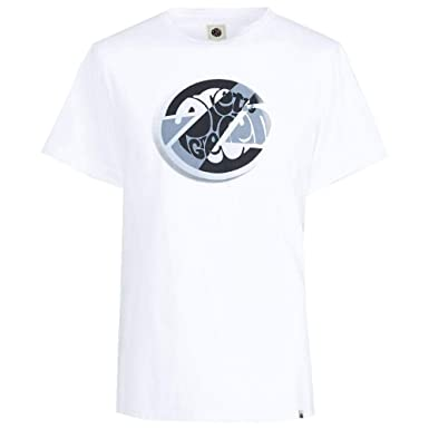 360a4735395 Pretty Green Mens Circular Print T-Shirt in White  Amazon.co.uk ...