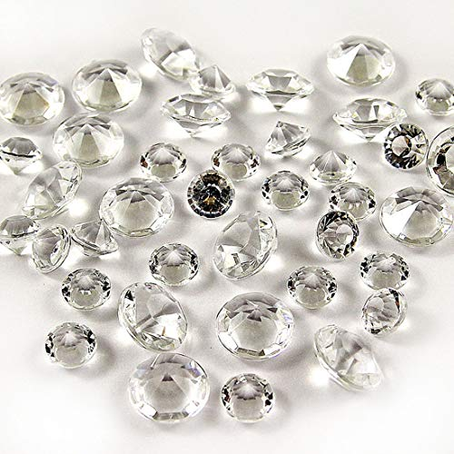 1000Pcs 10mm crylic Crystal Rhinestone Table Scatter Confetti, Artificial Diamond Table Vase Beads Fillers Decoration for Wedding, Valentine's Day, Anniversary, DIY Arts & Crafts (Clear, 10mm) ()